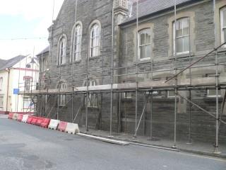 Scaffolding at Cawdor Hall